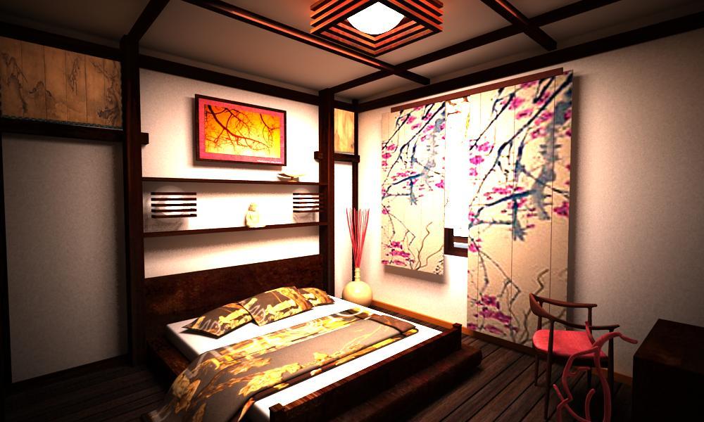 интерьеры в японском стиле фото